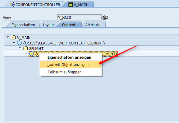 Web Dynpro - Context Element Laufzeitobjekt