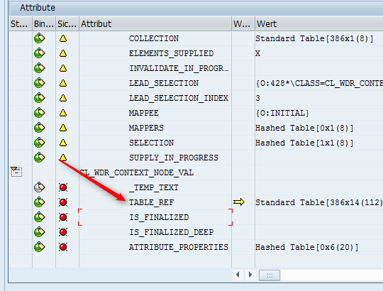 "Web Dynpro - Context ""TABLE_REF"""